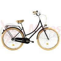 Bicicleta DHS Citadine 2832 neagra 2018