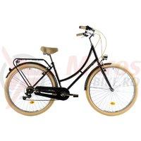Bicicleta DHS Citadine 2834 neagra 2018