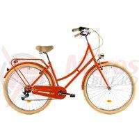 Bicicleta DHS Citadine 2834 portocalie 2018