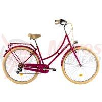 Bicicleta DHS Citadine 2834 roz inchis 2018