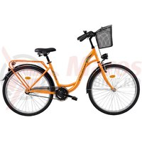 Bicicleta DHS Citadinne 2632 portocalie 2017