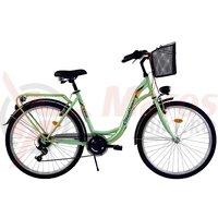 Bicicleta DHS Citadinne 2634 verde 2017