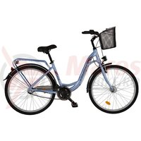 Bicicleta DHS Citadinne 2636 albastra 2017