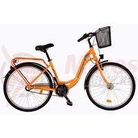 Bicicleta DHS Citadinne 2636 portocalie 2017
