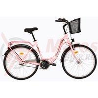 Bicicleta DHS Citadinne 2636 roz 2017