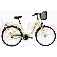 Bicicleta DHS Citadinne 2636 verde 2017
