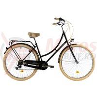 Bicicleta DHS Citadinne 2834 neagra 2019