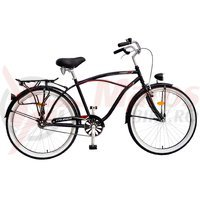 Bicicleta DHS Cruiser 2695 neagra/anvelope albe 2015