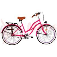 Bicicleta DHS Cruiser 2696 1v roz 2017