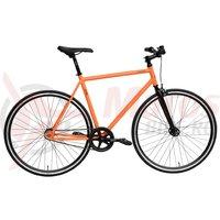 Bicicleta DHS Fixie 2895 portocalie 2017