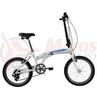 Bicicleta DHS Folding 2095 alb/albastru 2017