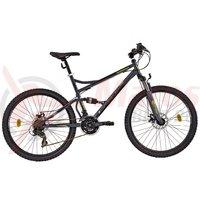 Bicicleta DHS Terrana 2645 gri/negru/verde 2017