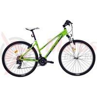 Bicicleta DHS Terrana 2722 verde/turcoaz 2017