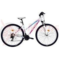Bicicleta DHS Terrana 2922 alb/roz 2017