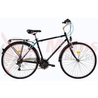Bicicleta DHS Travel 2851 negru/albastru 2017