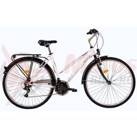 Bicicleta DHS Travel 2852 alba 2017