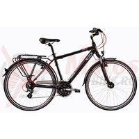 Bicicleta DHS Travel 2857 negru/rosu 2017