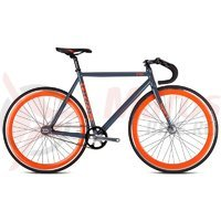 Bicicleta Drag One Fixie gri/orange