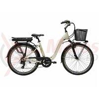 Bicicleta electrica Adriatica E1 e-bike lady champagne 26