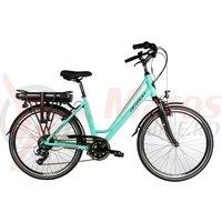 Bicicleta electrica City E-Bike Devron 26122 albastru deschis 2018