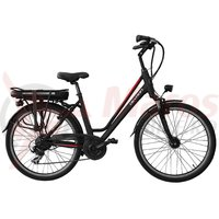 Bicicleta electrica City E-Bike Devron 26122 negru mat 2018