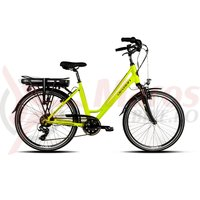 Bicicleta electrica City E-Bike Devron 26122 verde neon 2018