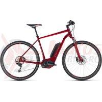 Bicicleta electrica Cube Cross Hybrid Pro 400 darkred/red 2018