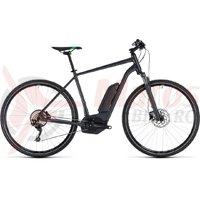 Bicicleta electrica Cube Cross Hybrid Pro 400 grey/flashgreen 2018