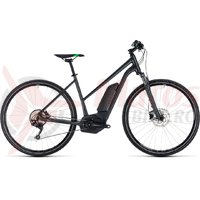 Bicicleta electrica Cube Cross Hybrid Pro 400 trapeze grey/flashgreen 2018