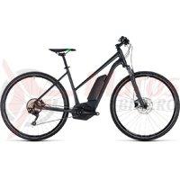 Bicicleta electrica Cube Cross Hybrid Pro 500 trapeze grey/flashgreen 2018
