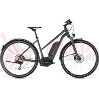 Bicicleta electrica Cube Cross Hybrid Pro Allroad 400 trapeze grey/flashgreeen 2018