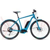 Bicicleta electrica Cube Cross Hybrid Race Allroad 500 blue/green 2018