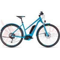 Bicicleta electrica Cube Cross Hybrid Race Allroad 500 trapeze blue/green 2018