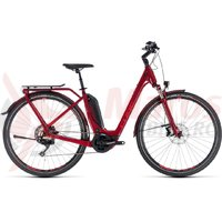 Bicicleta electrica Cube Touring Hybrid EXC 500 Easy Entry darkred/red 2018
