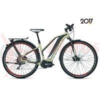 Bicicleta electrica Focus Jarifa Streeet Pro 10G 17Ah 36V beige/black 2017