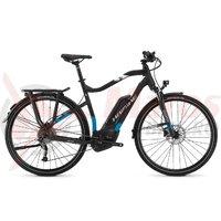Bicicleta electrica Haibike Sduro Trekking 5.0 Men 500Wh 9s black/blue/white matt 2018