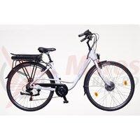 Bicicleta electrica Neuzer E-City Dama- 26' Alb/Gri-Albastru