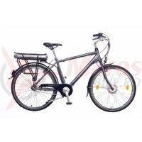 Bicicleta electrica Neuzer E-City Zagon - 26' Antracit/Gri-Albastru