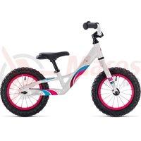 Bicicleta fara pedale Cube Cubie 120 fete white/pink 2018