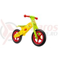 Bicicleta fara pedale Seven WTP galben/verde
