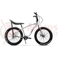 Bicicleta fat bike Pegas Cutezator EV Banana 7v alb perlat