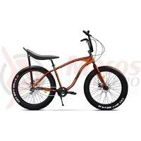 Bicicleta fat bike Pegas Cutezator EV Banana 7v portocaliu cupru