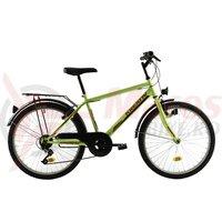 Bicicleta Kreativ 2413 galben neon 2018
