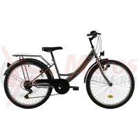 Bicicleta Kreativ 2414 gri 2018