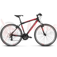 Bicicleta Kross Evado 1.0 black red matte 2017