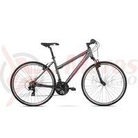 Bicicleta Kross Evado 1.0 graphite raspberry mat 2018