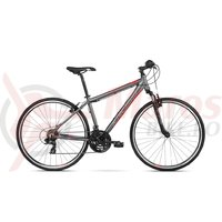 Bicicleta Kross Evado 1.0 graphite red mat 2018