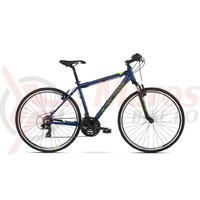 Bicicleta Kross Evado 1.0 navy blue lime mat 2018