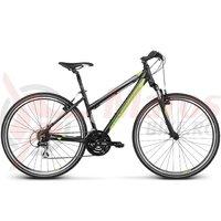 Bicicleta Kross Evado 2.0 dame black lime matte 2017