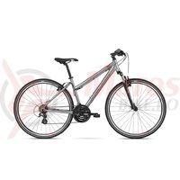 Bicicleta Kross Evado 2.0 dame silver red mat 2018